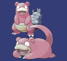 Slowpoke and Slowbro by Stephen Dwyer