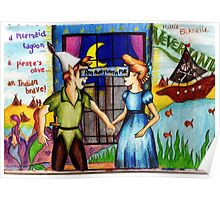 Run Away With Me - Peter Pan Poster