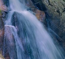 Mountain Waterfall  by Delores Knowles