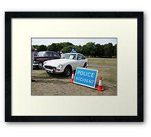 MGB GT V8 Vintage Police Car Framed Print