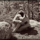 45259vbw Embrace Male Couple Art Nude by PrairieVisions