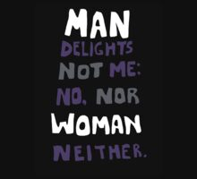 man delights not me by prospero