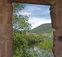 Through a Window at Urquhart by kalaryder