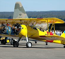 Three Boeing Steermans, Nowra Airshow, Australia 2007 by muz2142