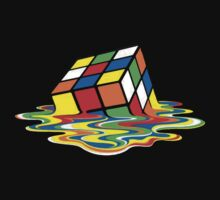 Melting Rubik's Cube T-Shirt by fenwaydist