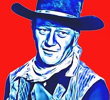 John Wayne in Red River by Art Cinema Gallery