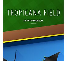 Minimalist Tropicana Field - Tampa Bay by pootpoot