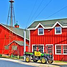 Red Farm Buildings by EBArt
