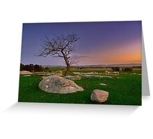 """Winter Twilight At The Rocks"" Greeting Card"