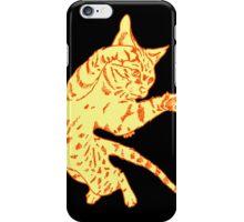 Ol' Yeller Cat in Gold Hues iPhone Case/Skin