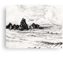 view from yachats Canvas Print