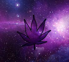 Galaxy Pot Leaf by LeggyBean