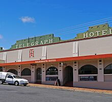 Bergins Telegraph Hotel, Tenterfield, NSW, Australia by Margaret  Hyde