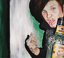 Mike D With Bottle 2010 by Elizabeth Dibois