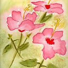 Hibiscus Watercolor by AngelaBishop