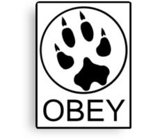 Furry Propaganda : OBEY Canvas Print