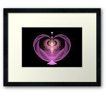 Fluttering Heart Framed Print
