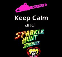 Lollipop Chainsaw Keep Calm and Sparkle Hunt Zombies by stle16