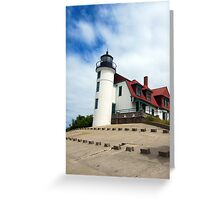 Lake Michigan Light House  Greeting Card
