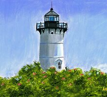A New England Lighthouse Pastel by AngelaBishop