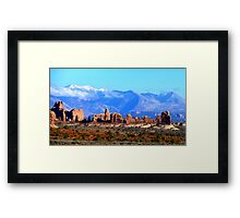 Arches National Park: The Windows Section Framed Print