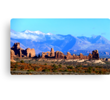 Arches National Park: The Windows Section Canvas Print