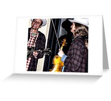 Street Musicians 2 Greeting Card