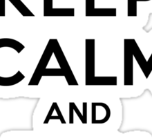 Keep Calm and Run On(LS/Male) Sticker