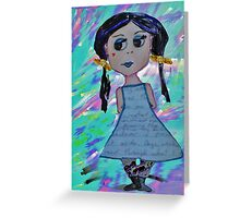 Odd Girl Greeting Card