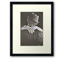romantic hands Framed Print