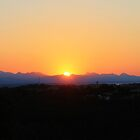 Sunset over the Mountains by Heidi Hesse