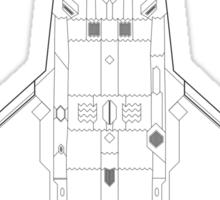 Lockheed Martin F-22 Raptor Blueprint Sticker