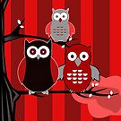Red Owls by Adamzworld