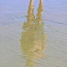 Reflection In The Sand 1 by Rebecca Dru