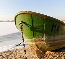 Boat in Wintertime by joggi2002