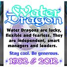 1952 2012 Chinese zodiac born in year of  Water Dragon by valxart by Valxart