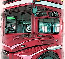 London Bus - 1 by Paul Stevens