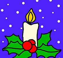Christmas candle by chany