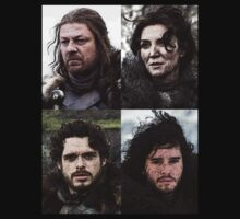 The Stark Family - Game of Thrones by Marjuned
