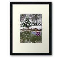 snowy reflections Framed Print
