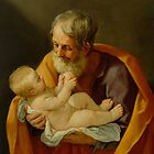 St. Joseph and the Christ Child by Bridgeman Art Library