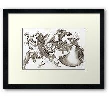Strong with the Force Framed Print