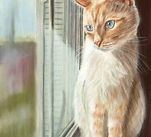 Looking Out II Pastel by AngelaBishop