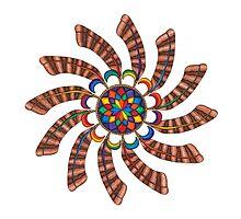 Dreamcatcher Mandala - Card - Full-Color by TheMandalaLady