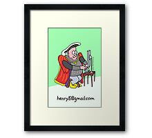 Henry the 8th's 7th wife Framed Print