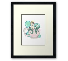 Tea cup and bubbles Framed Print