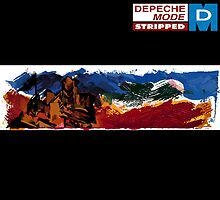 """Depeche Mode : Stripped 12"""" paint  by Luc Lambert"""