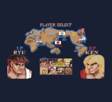 Vintage video game Street Fighter II by Nasherr