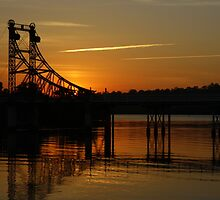 The McFarlane Bridge at Sunset  by myraj