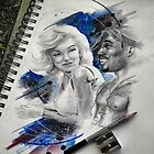 Tupac and Marilyn Monroe by colorblind